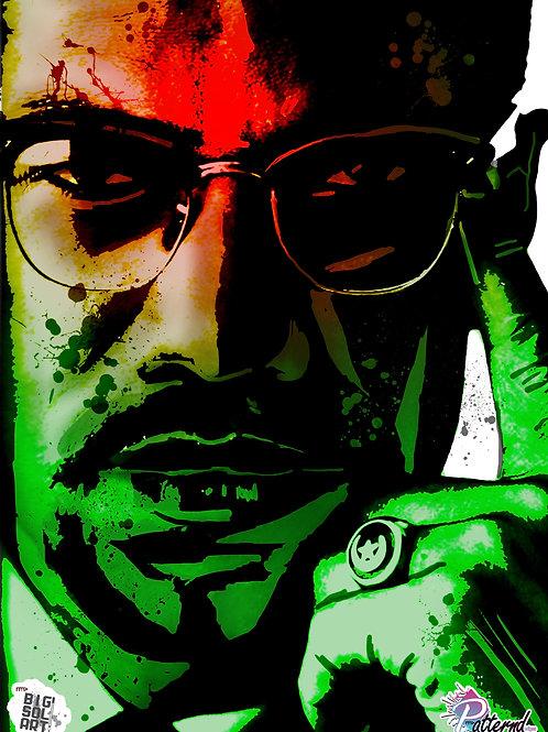 Malcolm X (A3 Print)