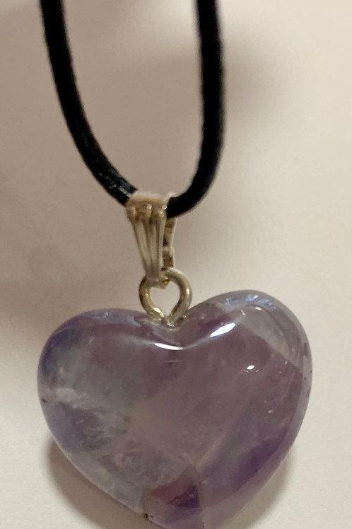 Lavender Aura Heart Pendent