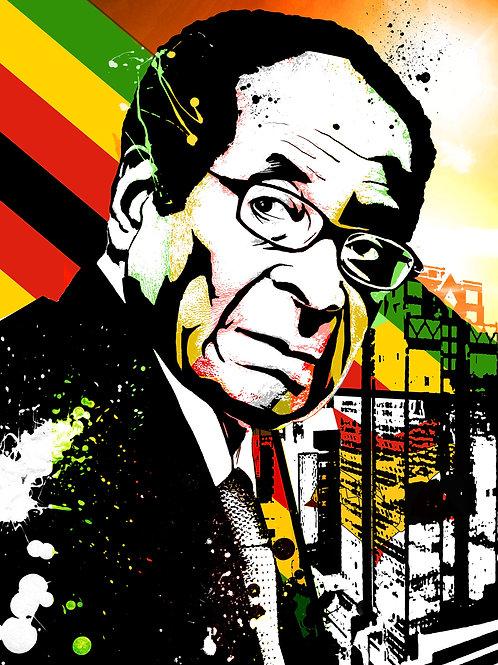 President Mugabe A3 Print