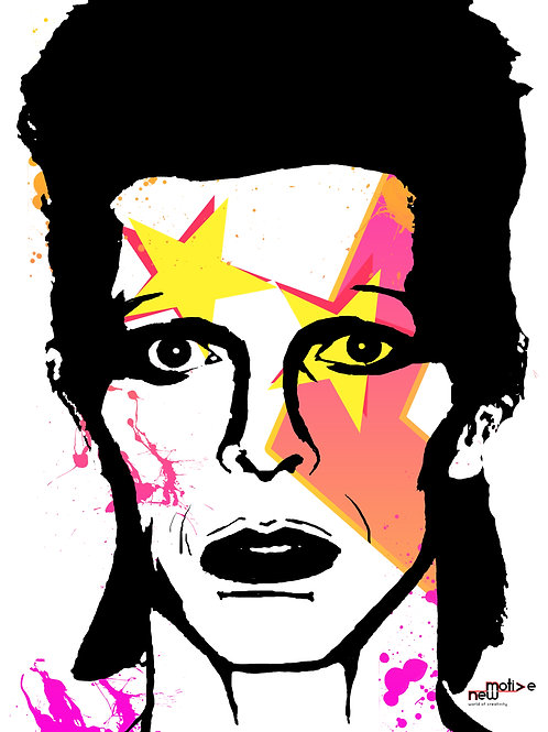Rest In Power David Bowie A3 Print