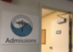 The Boulder Integrated Health Admissions sign.