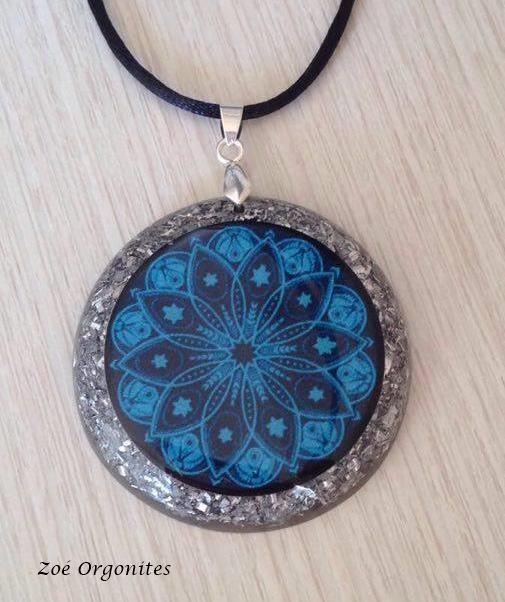 Orgonite Mandala Azul 1G