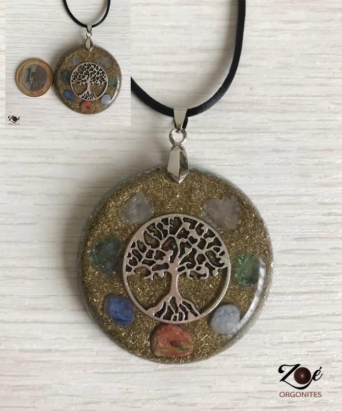 Orgonite Medalha Árvore da Vida