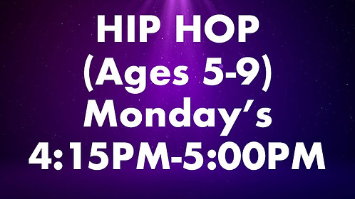 Hip-Hop (Ages 5-9)