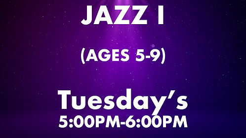 Jazz I (Ages 5-9)