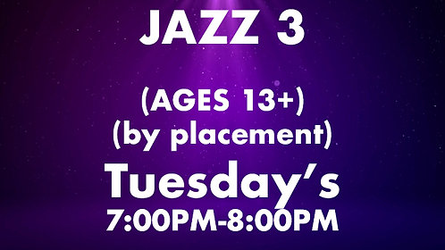 Jazz 3 (Ages 13+) (by placement