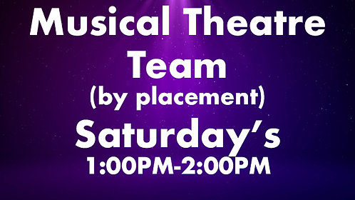Musical Theatre Team (by placement)