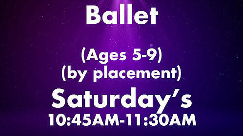 Ballet (Ages 5-9) (by placement)