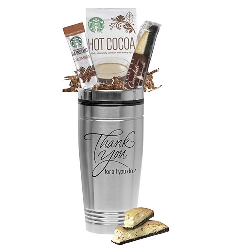 Thank You Starbucks Coffee & Cocoa Gift Tumbler