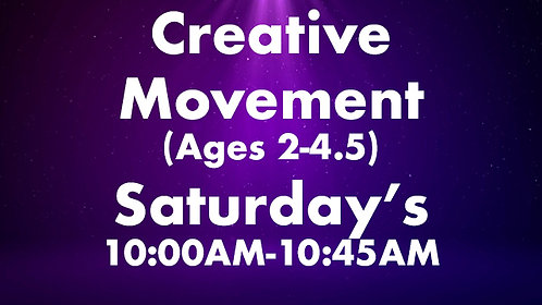 Creative Movement (Ages 2-4.5)