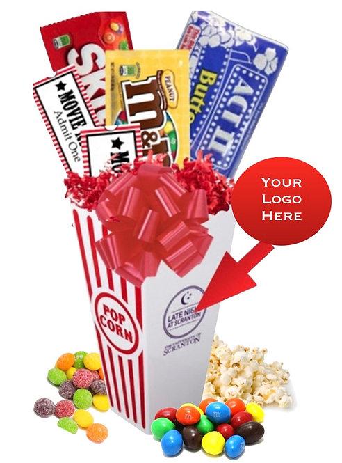 Movie Night Candy & Popcorn Basket
