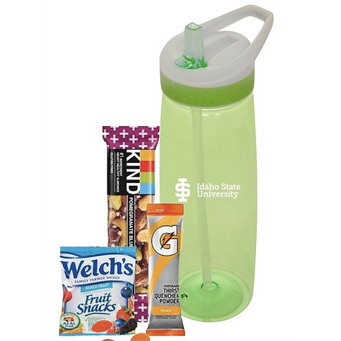 Water Bottle with Healthy Snacks