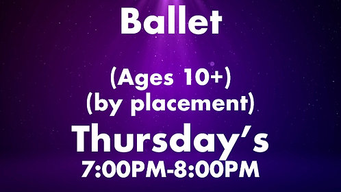 Ballet (Ages 10+) (by placement)