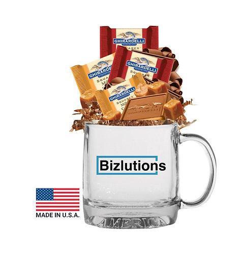 USA Made Mug with Ghirardelli Chocolate Squares