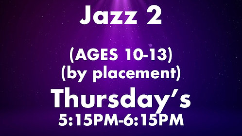 Jazz 2 (Ages 10-13) (by placement)