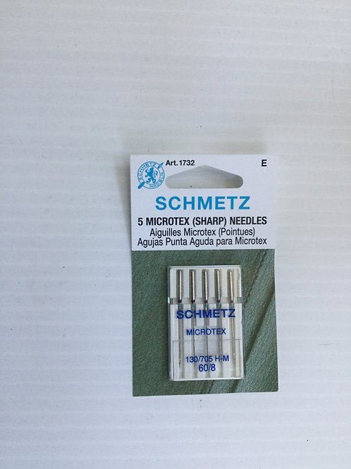Schmetz Microtex (sharp) 60/10 needles