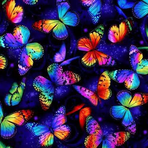 Multi Bright Butterflies Flying # C8530-MULT