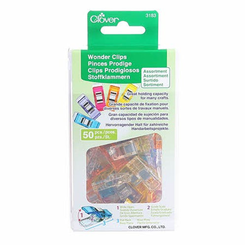 Wonder clips. Package of 50 assorted colors