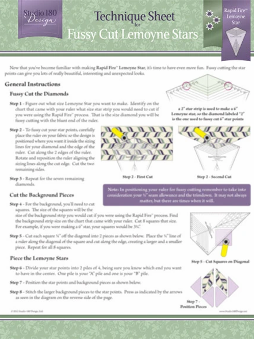 Fussy Cut Lemoynes Technique Sheet