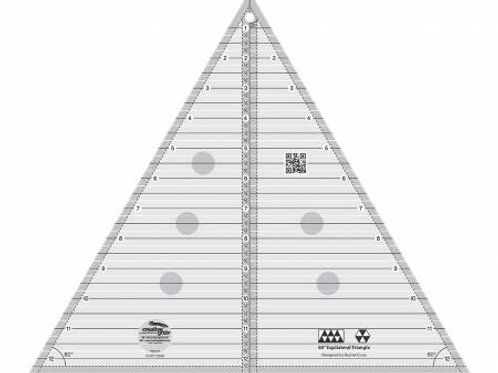 """Creative Grid 60 degree Triangle 12"""" Finished size"""