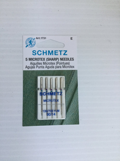 Schmetz 90/14 Microtex (sharp) needles