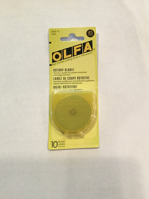 Olfa 45mm Replacement Blades 10 pack