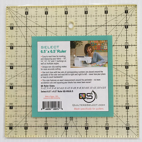 """Quilters Select 6.5"""" x 6.5"""" Ruler. You're going to LOVE this ruler!"""