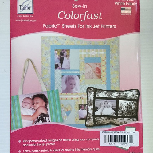 June Tailor Sew-In Colorfast Sheet (single sheet)