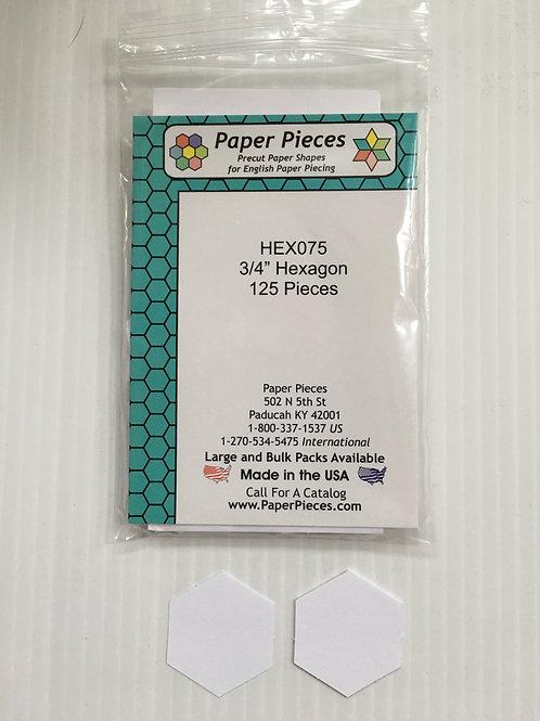 """3/4 """" Hexagon papers"""