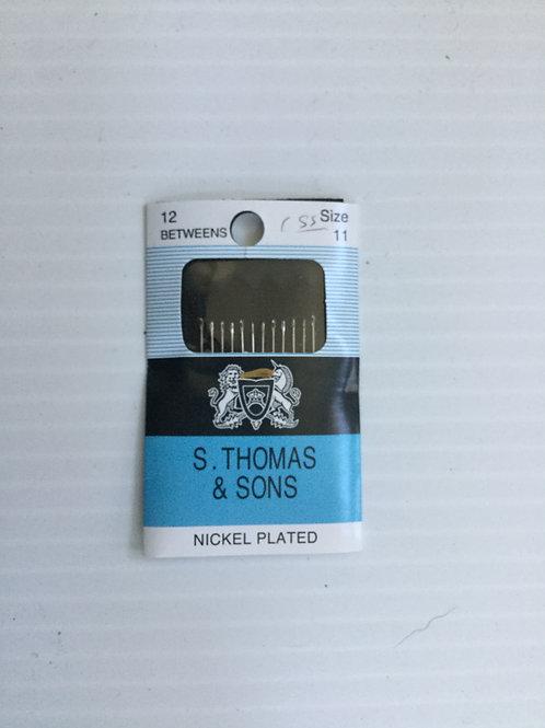 S. Thomas & Sons Siz 11 quilting between needles