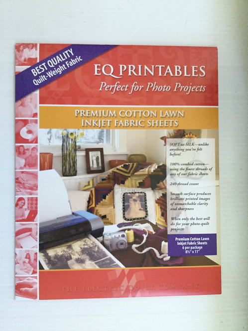 EQ PrintablesPremium Cotton Lawn Inkjet Fabric Sheets