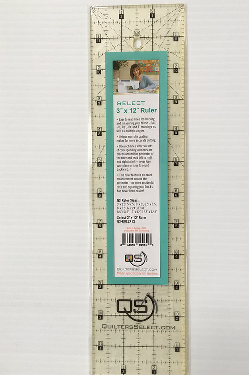 "Quilters Select 3"" x 12"" Ruler. You're going to LOVE this ruler!"