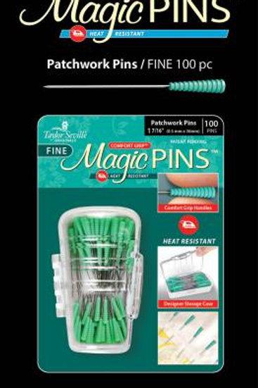 Fine Magic Pins  Comfort Grip, Heat Resistant 100 count
