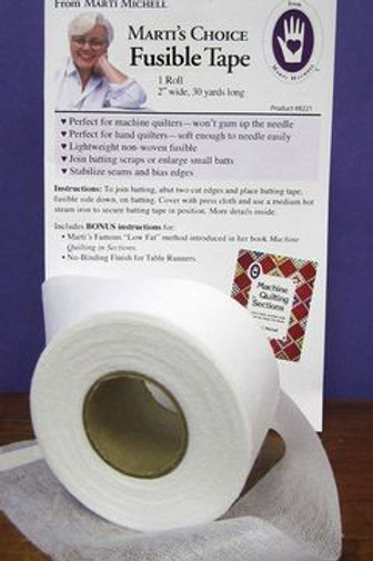 "Marti Michell 2"" x 30 yard fusible tape"