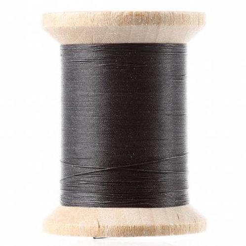 211-04-BLK YLI Black Glazed cotton hand quilting thread