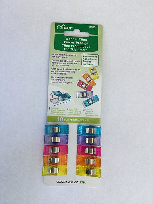 Wonder Clips package of 10 assorted colors