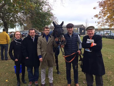 Tourhousemuir pictured with some of his syndicate members