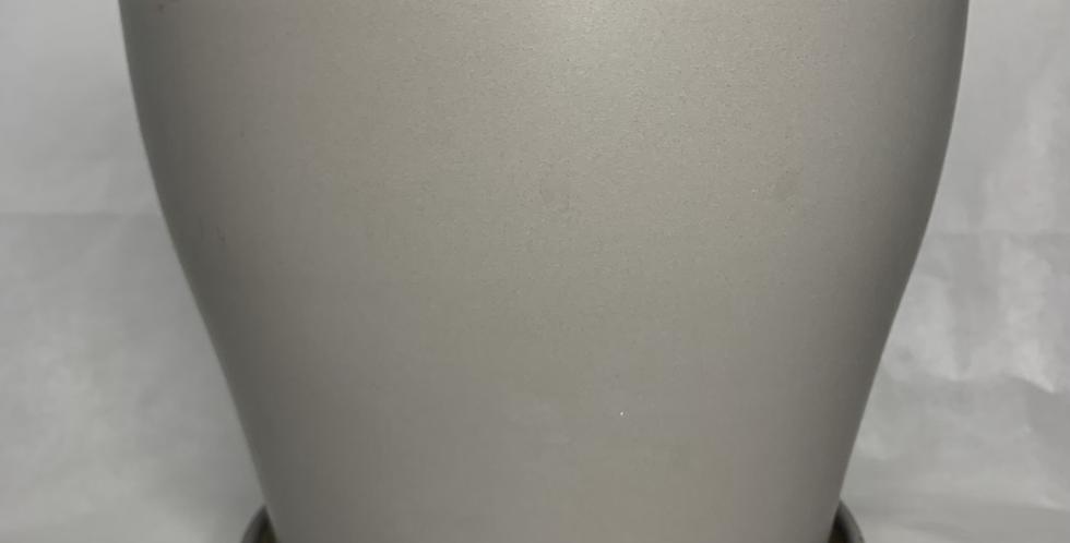 עציץ חרס אפור