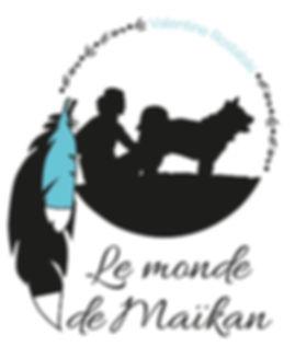 Logo Le Monde de Maïkan, ombre d'une jeune feme et son chin regardnt dans la même direction.