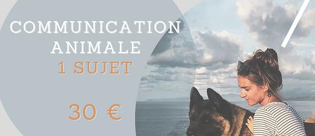 Communication animale 1 sujet