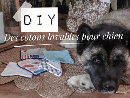 DIY - des cotons lavables pour chien          (mais pas que!)