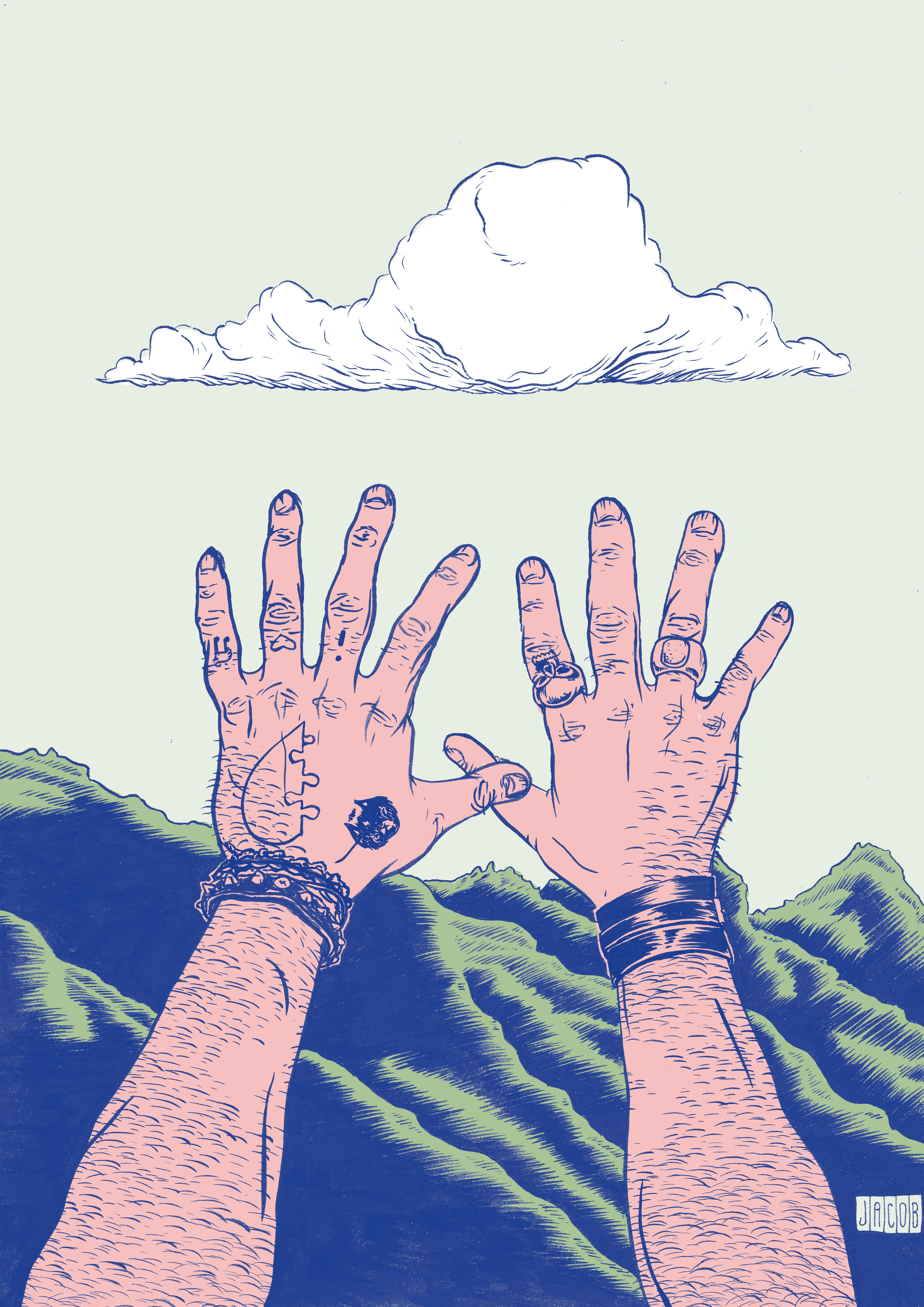 Joe's hands
