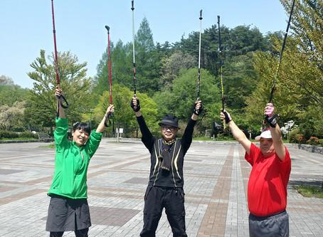 4/29ノルディックウォーキング体験会開催・仙台・旭ヶ丘駅・台原森林公園内・吉田真裕子・CoCotte