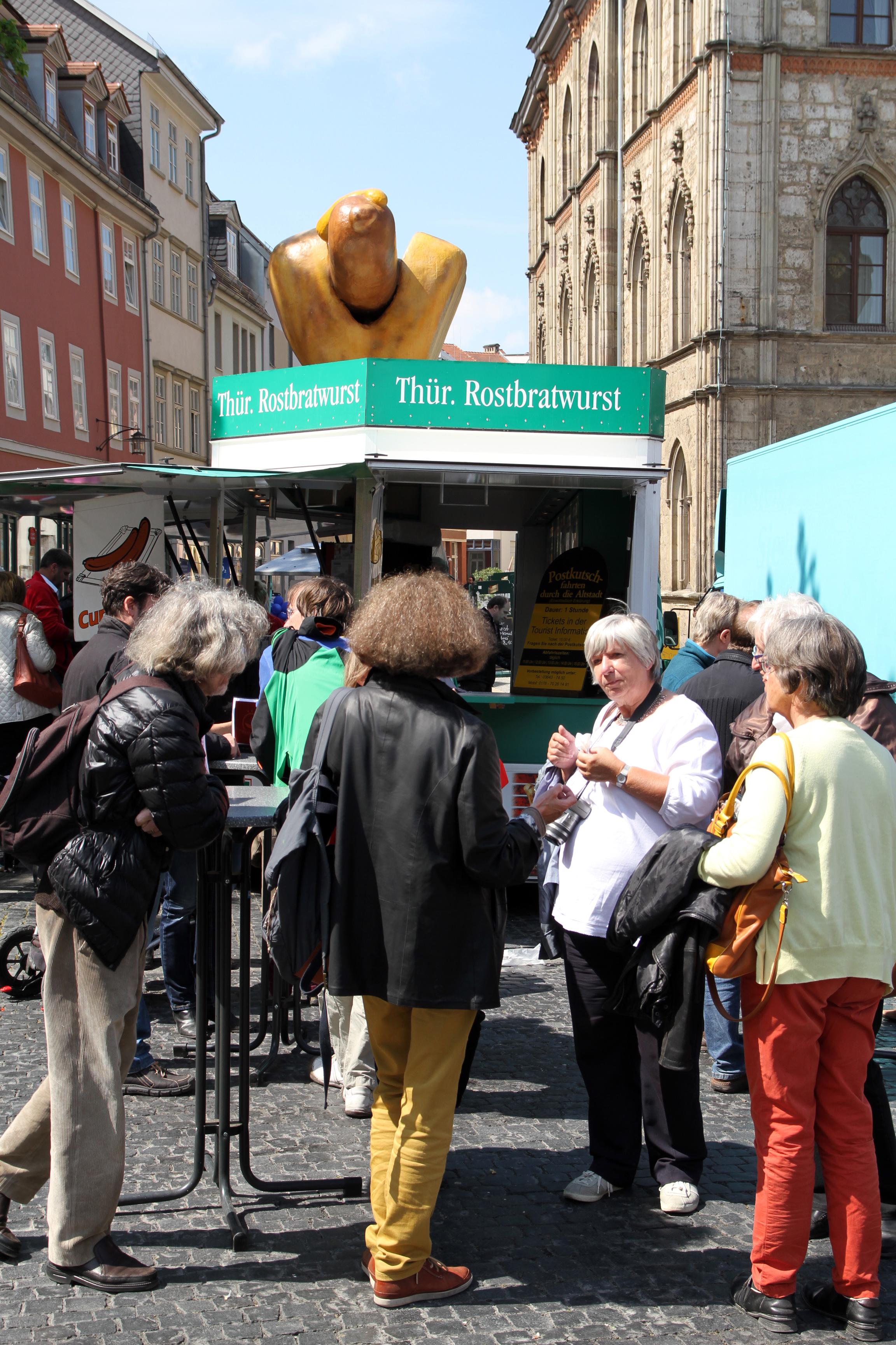 Rostbratwurstbude in Weimar