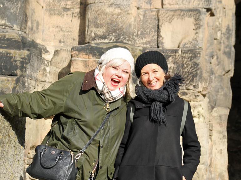 Susanne Steuber und Christina Ruhland haben beste Laune