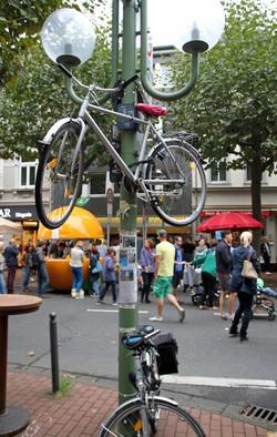 Fahrrad höher gelegt ;-)