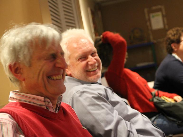 Horst Schmidt und Roland Stoll haben gut lachen