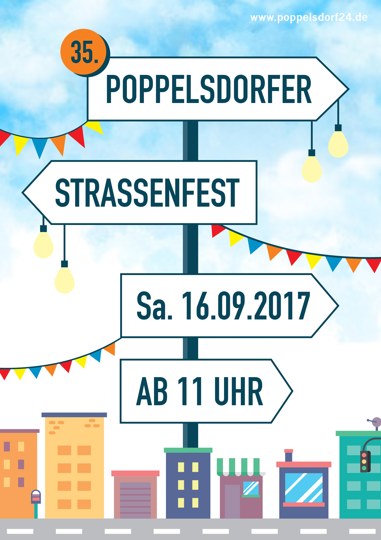 Das Straßenfest-Plakat ...