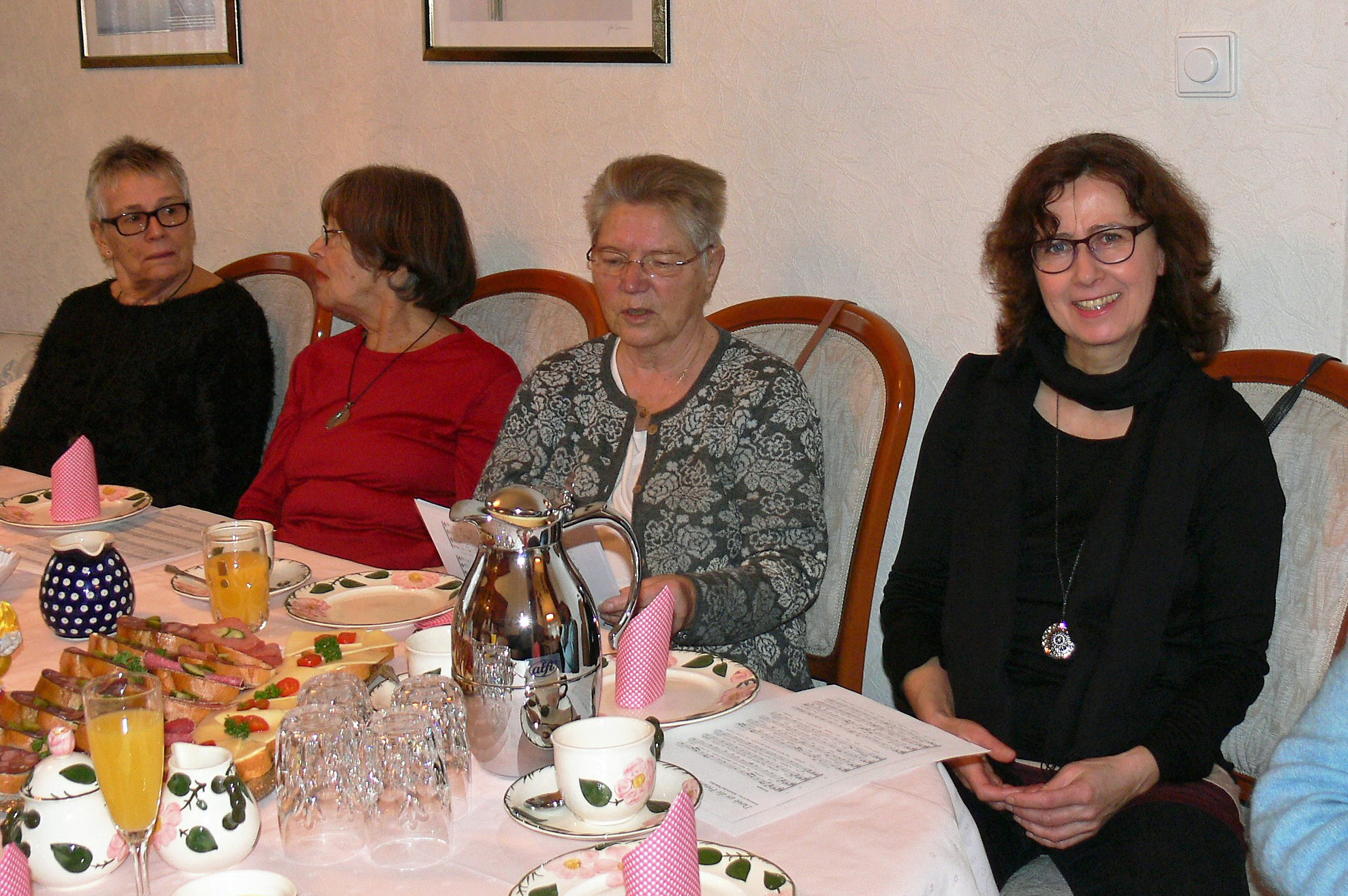 Ingrid, Elke, Birgit und Anne