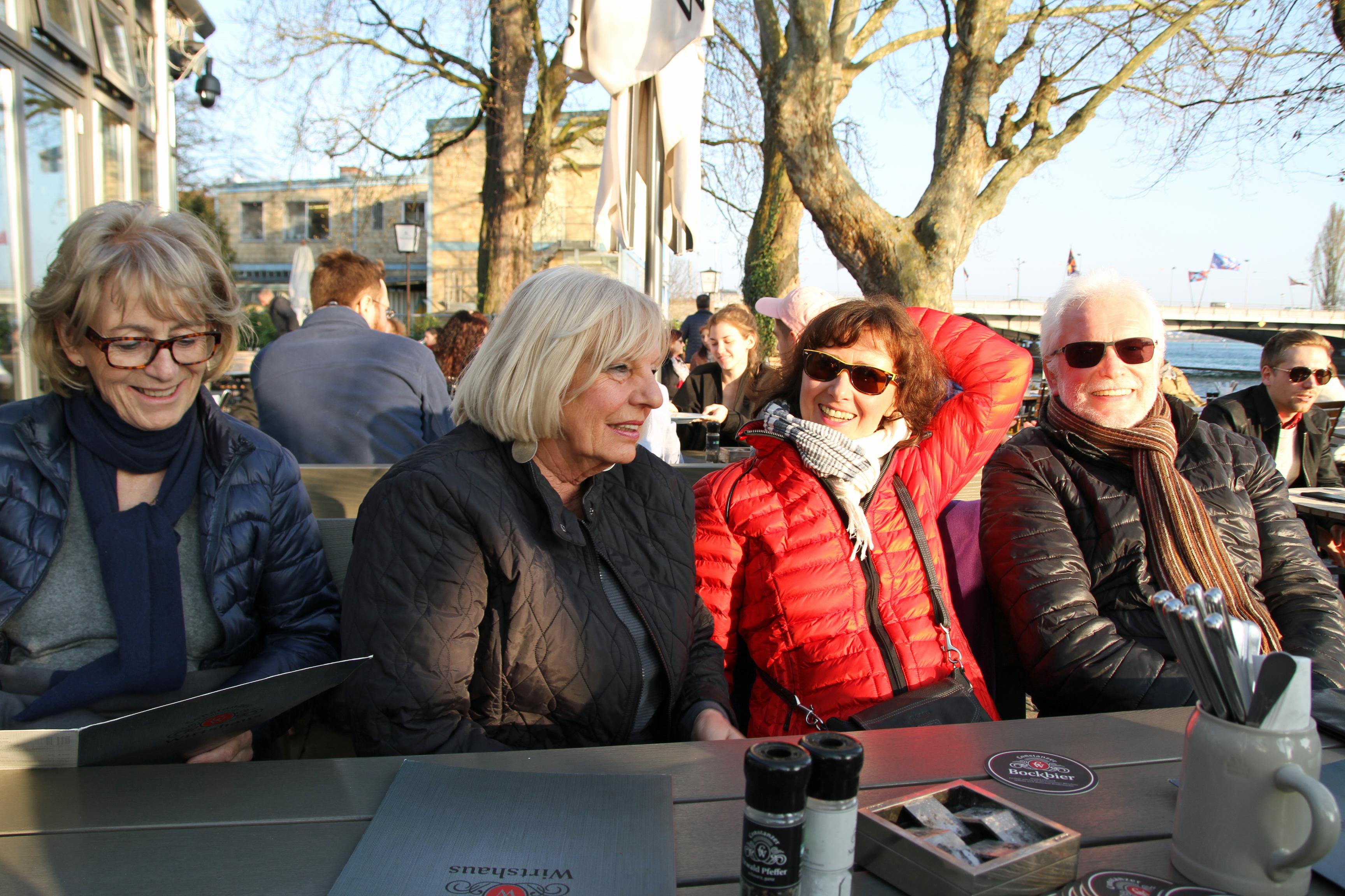 Antje, Bruni, Anne und Roland ...